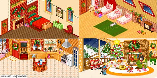 Christmas house made with mini room maker mini room flickr for Room creator free