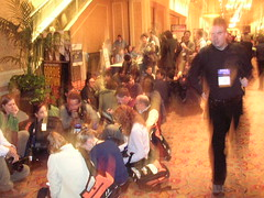 Lining up for Bill Gates keynote | by scriptingnews