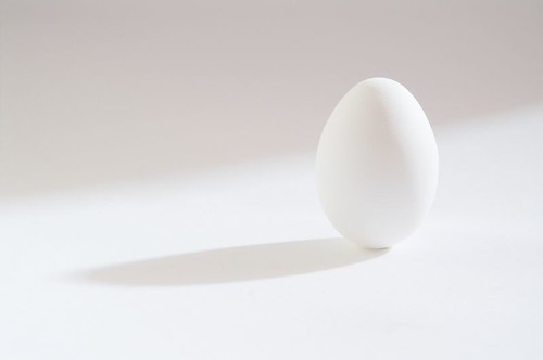 Egg with directional shadow and background | by Joost Nelissen
