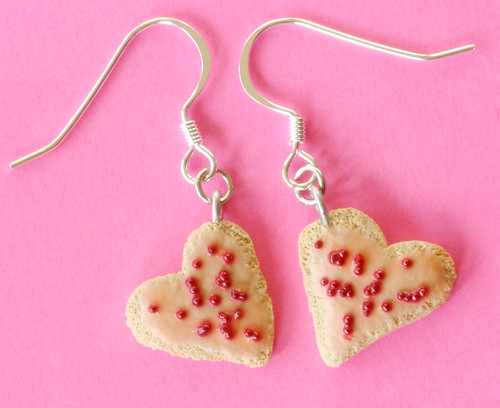 Love, Sweet Love -- mini sugar cookie earrings | by MossyOwls