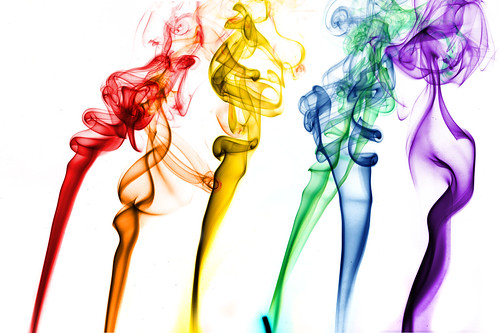 coloured smoke | by aubergene