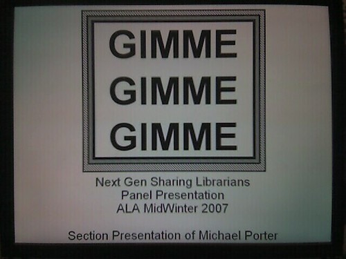 ALA Midwinter  Presentation Intro Slide | by libraryman