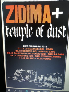 ZiDima + Temple of dust [mini tour dicembre 2016]