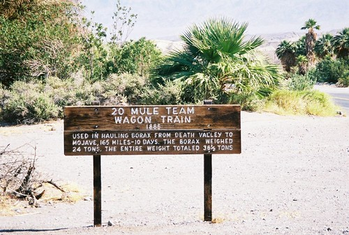 20 Mule Team Borax Death Valley Six Of Us From