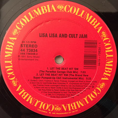 LISA LISA & CULT JAM:LET THE BEAT HIT'EM(LABEL SIDE-B)