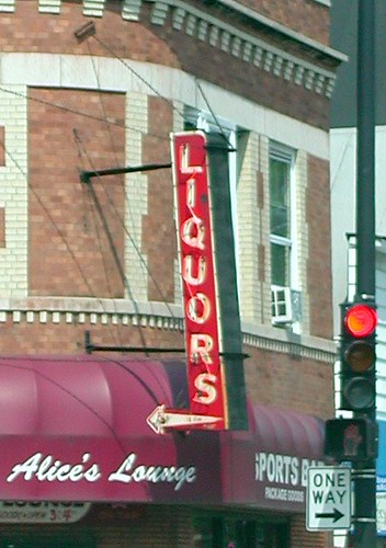 alice 39 s lounge liquors sign signs alice 39 s lounge liquors b flickr. Black Bedroom Furniture Sets. Home Design Ideas