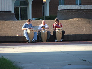 hippies.  playing the drums. at UNCC? | by allygirl520