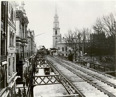 elevated railroad on Tremont St. at Granery, courtesy of Bostonian Society, Old State House- get | by Hey John Park!