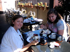 Karen and Deana enjoy Extraordinary Desserts | by Chris Radcliff