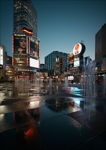 dundas square fountains | by wvs