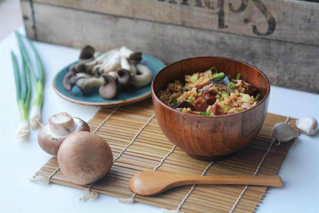 Brown Rice Mushroom Pilaf - USA Rice
