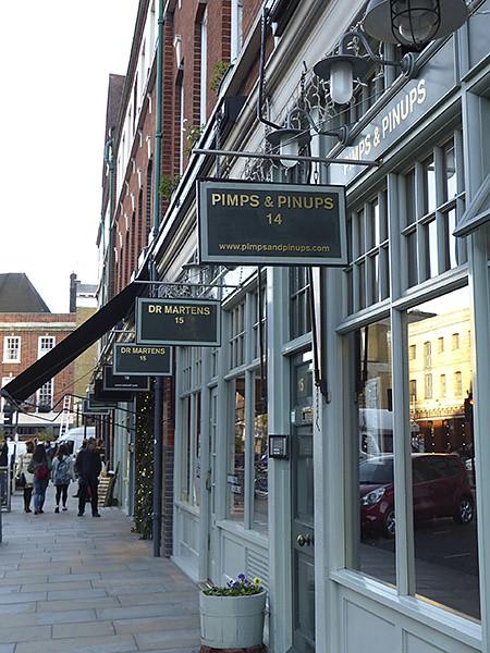 le long du marché de Spitalfields