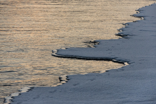 ice at river's edge