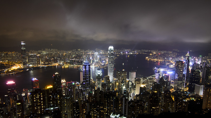 2015.07 Hong Kong - 太平山Night view