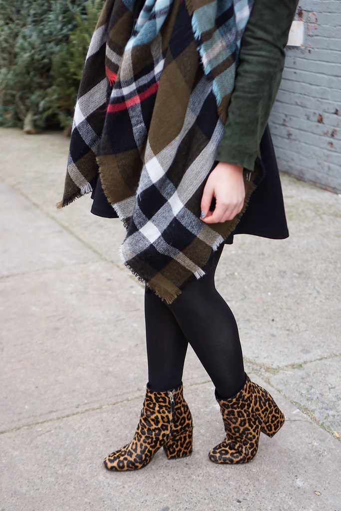 Sam Edelman Leopard Taye Booties | Casual Holiday Outfit