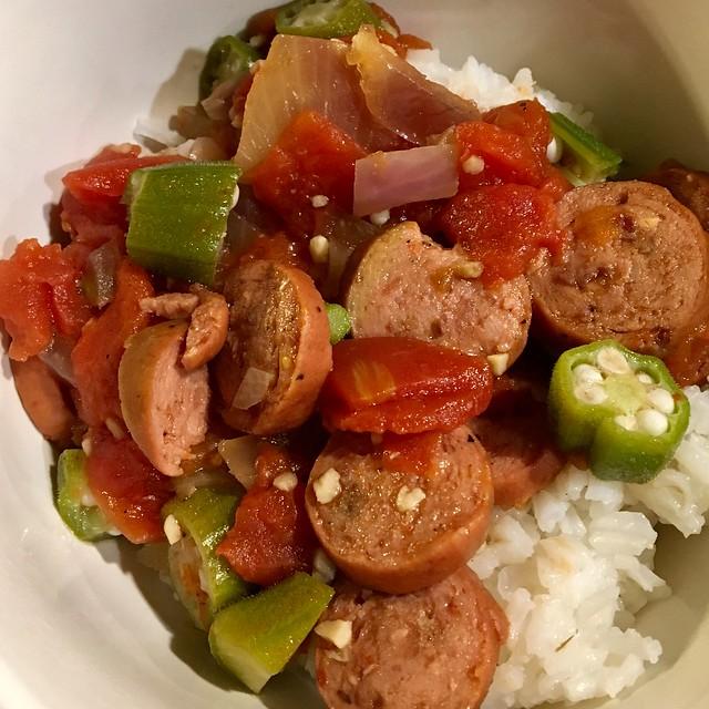 Crock Pot Sausage Gumbo