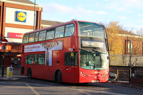 Arriva London T114 on Route 157, Morden Station