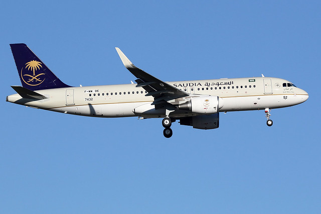 1 décembre 2016 - SAUDIA - Airbus  A 320SL  F-WWDE  msn 7432 - LFBO - TLS