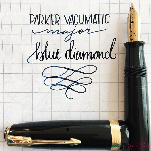 Review Parker Vacumatic Major Blue Diamond [Vintage]20