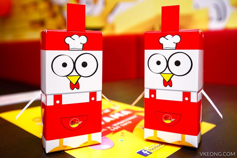 Yoogane Dak Galbi Chicken Paper Mascot