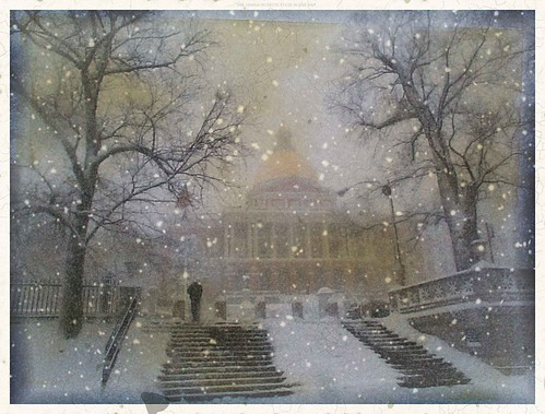 Snowy MA State House | by Kenchy