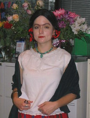 me dressed as frida kahlo at work | by *julia*