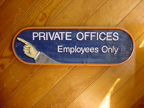 Private Offices:  Employees Only | by jasoneppink