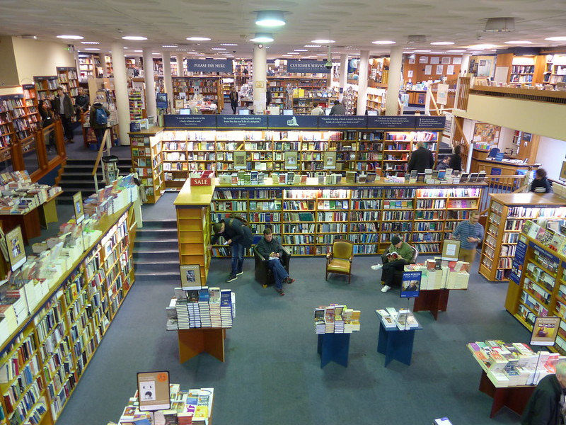 This is a picture of the large basement in Blackwell's books