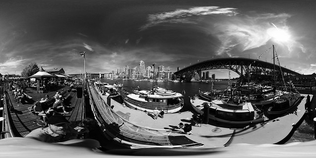 Ricoh Theta - Vancouver in Black and White
