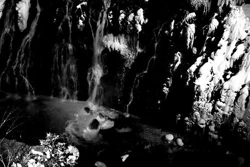 The Shirahige Waterfall of Biei in evening on JAN 07, 2017 (4)