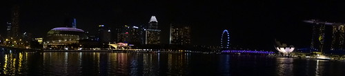 Singapore River and Marina Bay Area by night