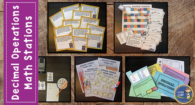 Best of 2016, decimal operations math stations