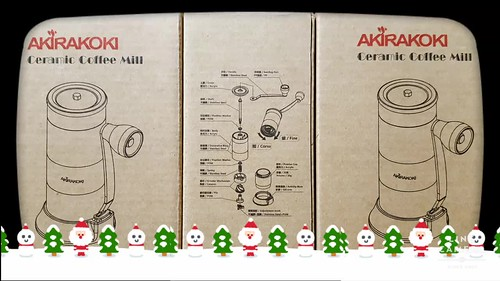 holiday ceramic coffee mills