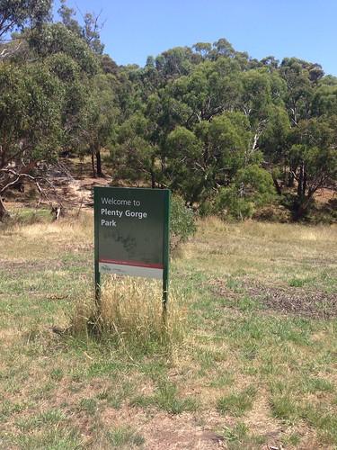 Plenty Gorge Parklands sign, Bundoora