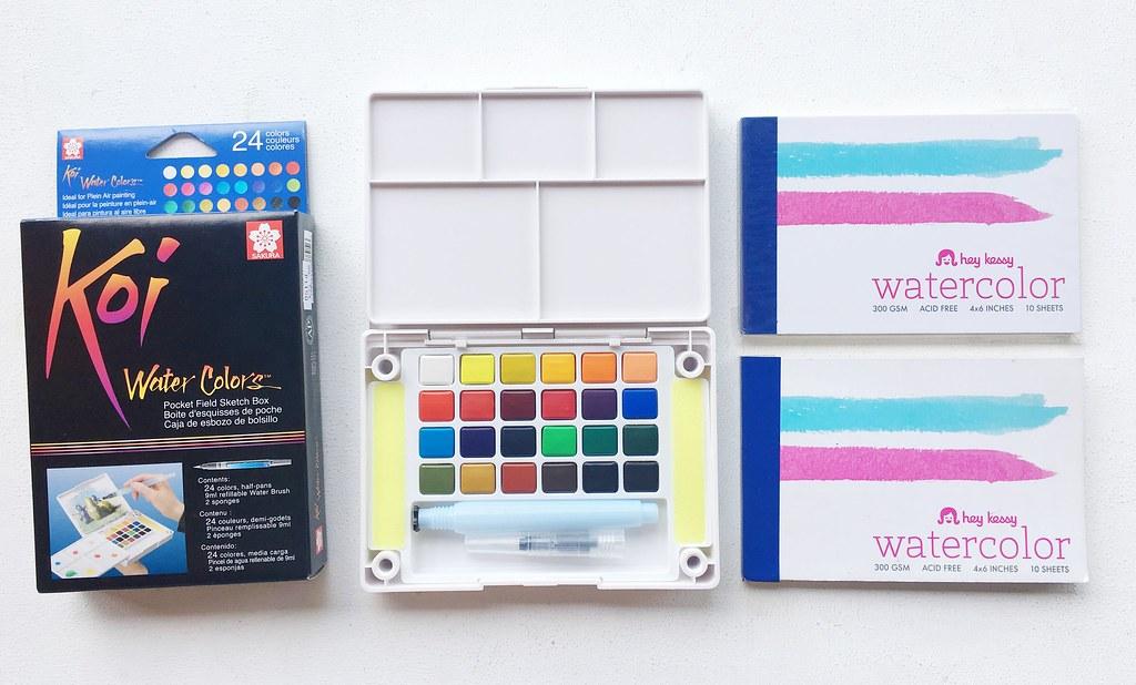 Sakura Watercolor Travel Kit and Watercolor Pad