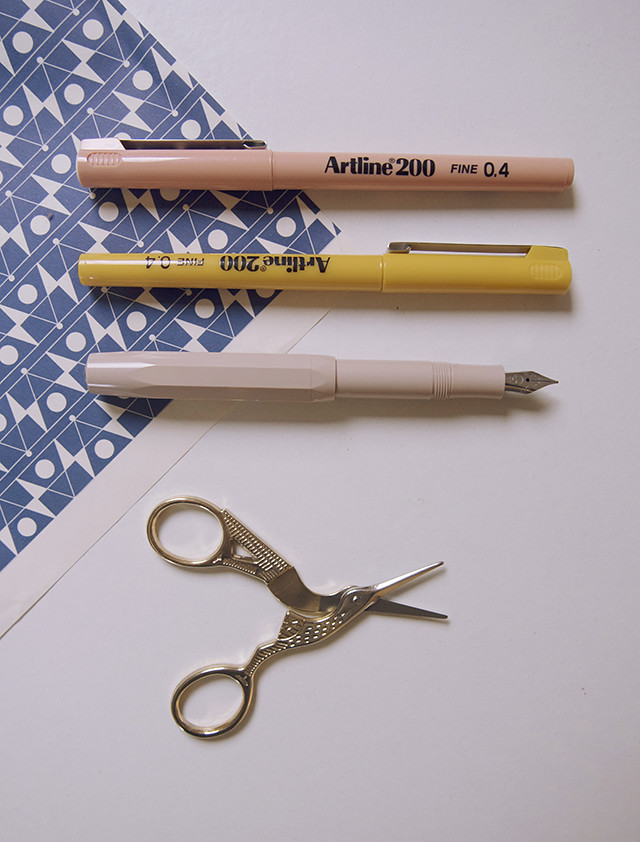 stationery flatlay rifle paper co ban.do papersmiths kaweco moonko being little lifestyle blog blogger