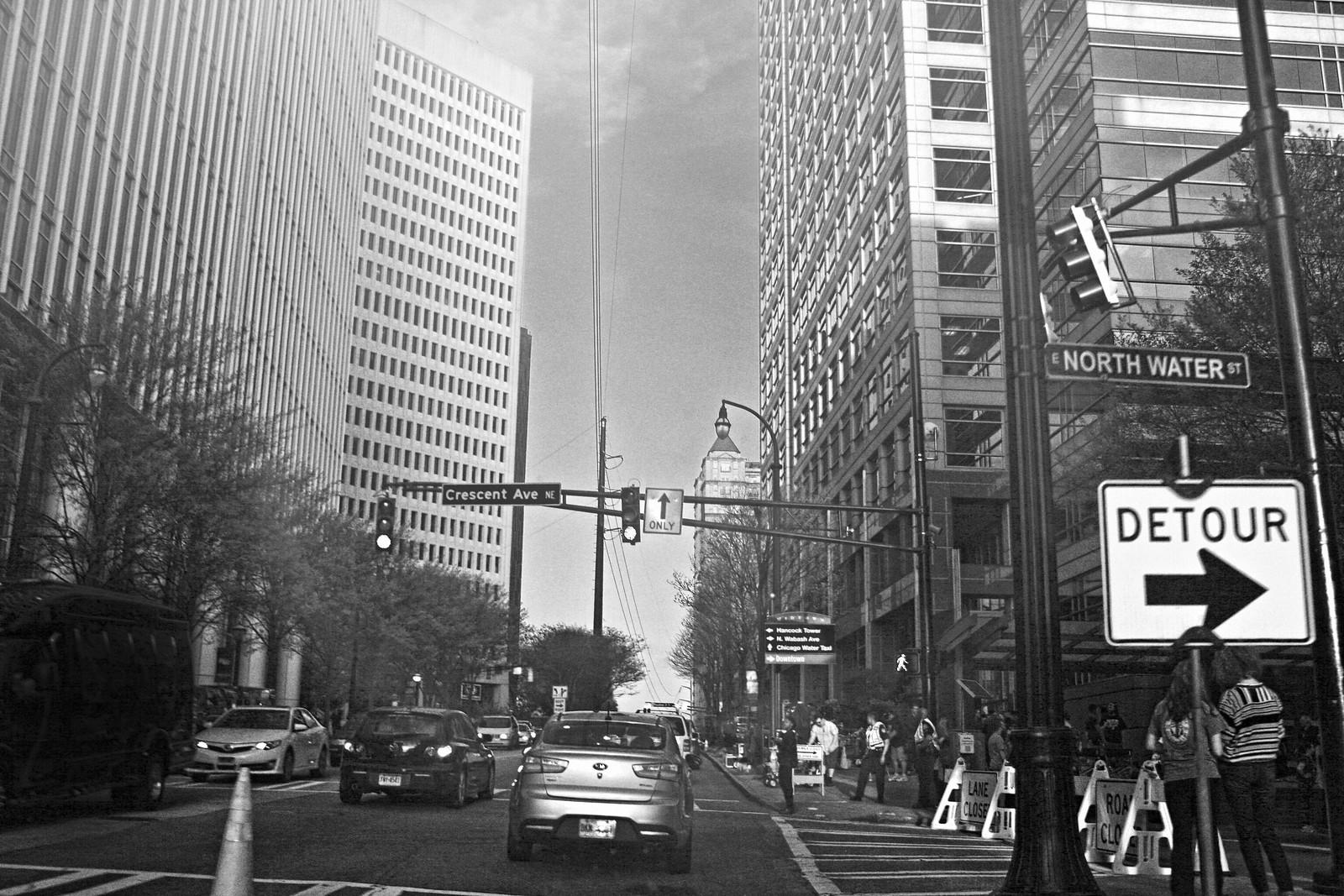 Film Shoot in Midtown Atlanta, Spring, 2015