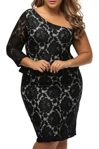 plus size clothing black