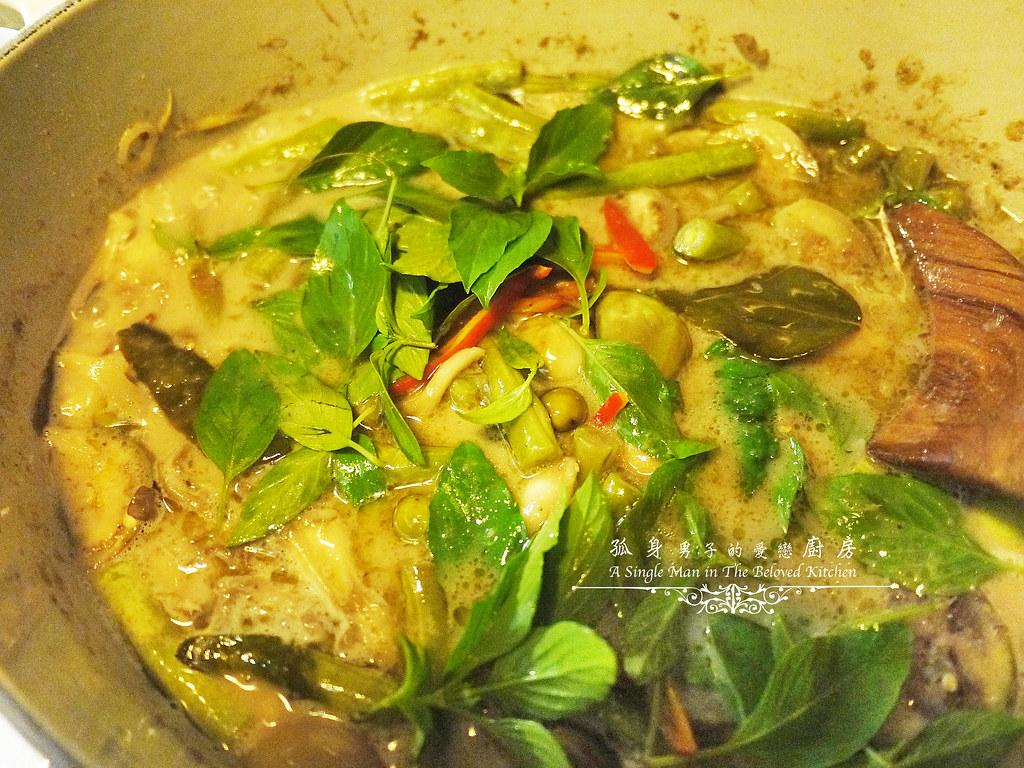 孤身廚房-滿滿新鮮香料版的泰式綠咖哩雞29