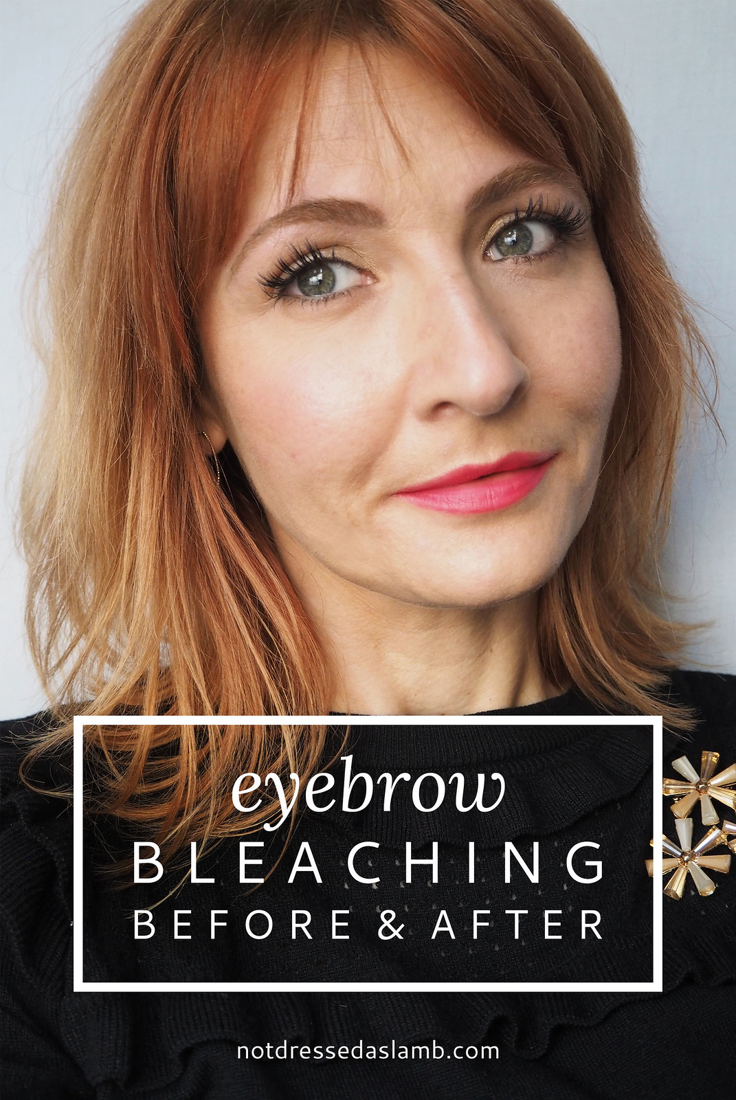 Bleaching eyebrows to match bed or blonde hair - before and after results | Not Dressed As Lamb, over 40 style blog