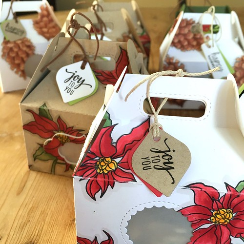 Christmas gift goodie boxes