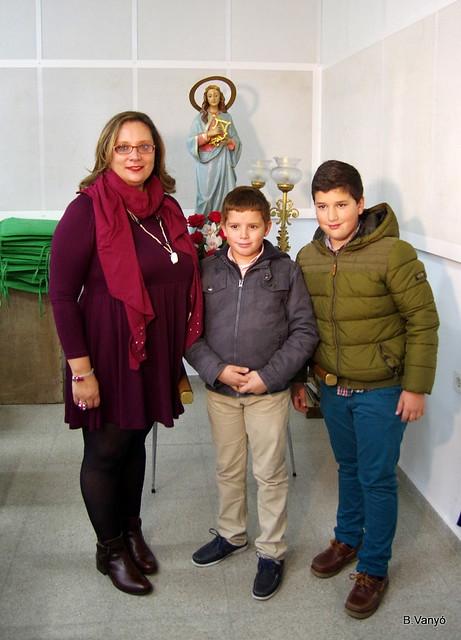Trasllat Santeta a la nova clavari : Pilar Solbes Gisbert