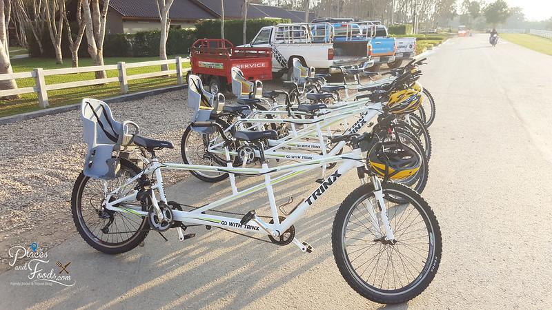 glamping in singha family bikes