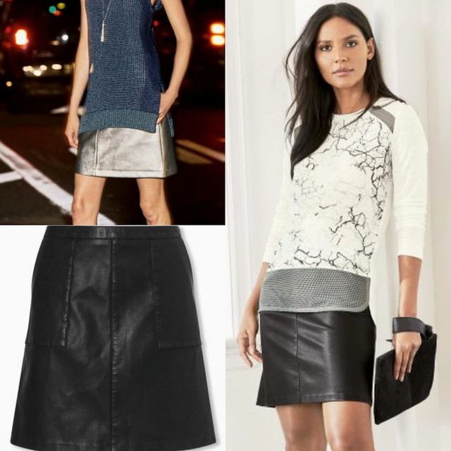 Leather Mini Skirt from Next