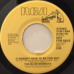 THE BLOW MONKEYS:IT DOESN'T HAVE TO BE THIS WAY(LABEL SIDE-A)