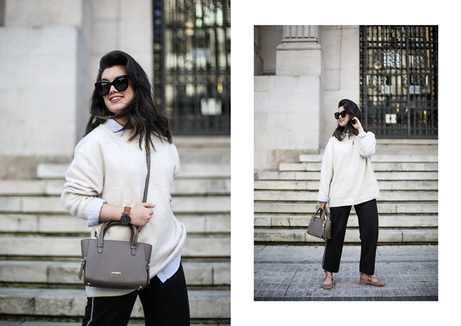 lace up flats asos maxi sweater celine sunglasses carmen acosta