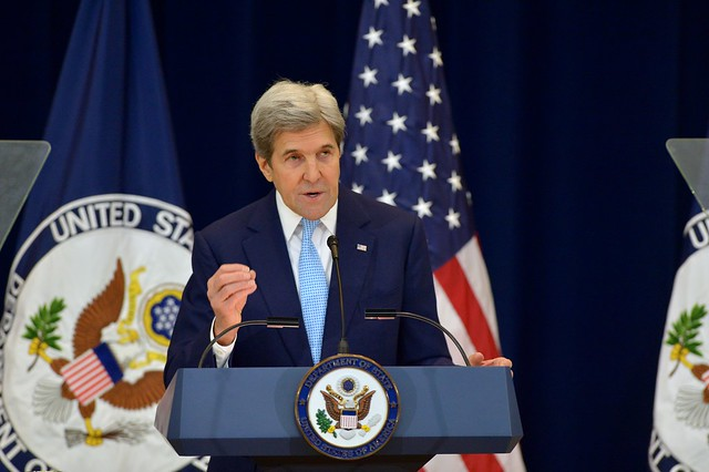 Secretary Kerry Delivers Remarks on Middle East Peace in Washington