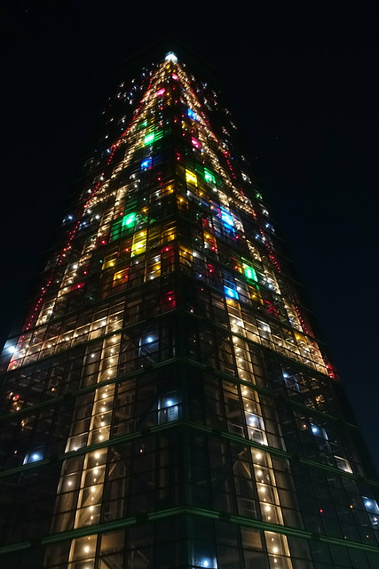 Chiba port tower holiday tree 04