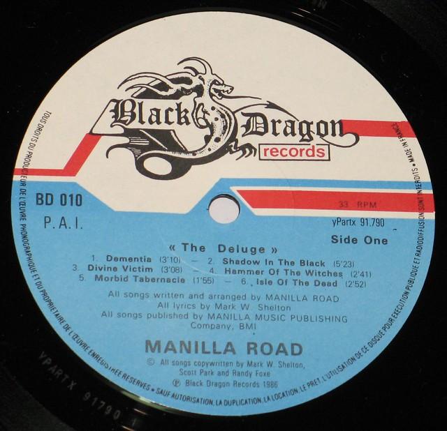 "MANILLA ROAD THE DELUGE 12"" vinyL LP"