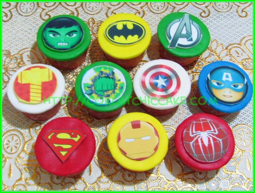 minicupcake avengers